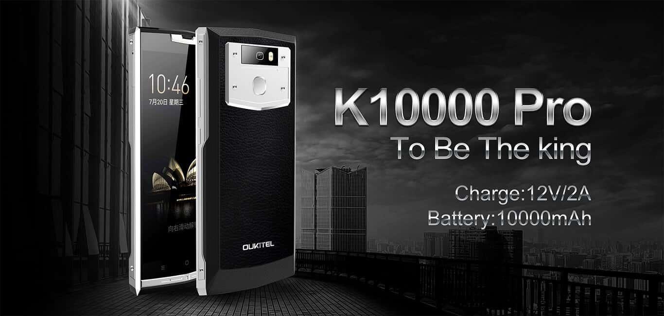 10000mAh 배터리가 내장된 Oukitel K10000 Pro