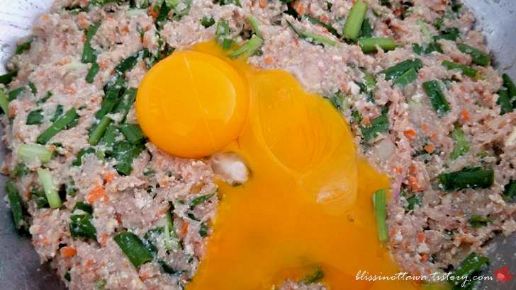 달걀노른자입니다