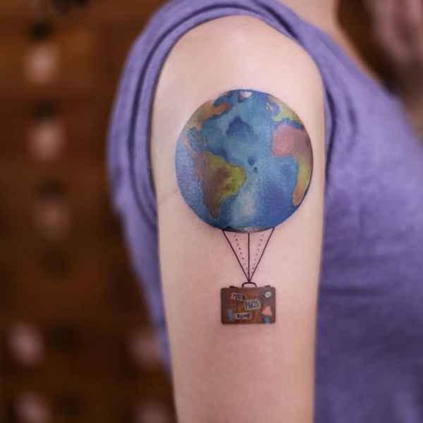 지구 모양의 열기구