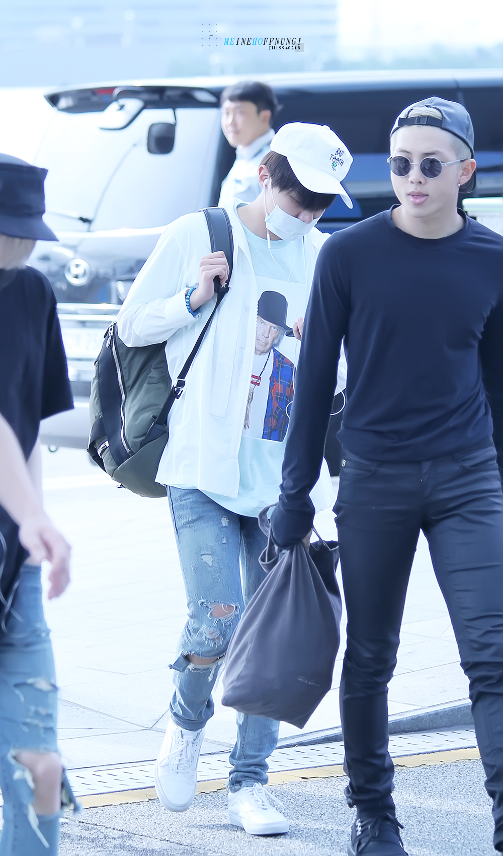 Picture Fansitesnap Bts At Incheon Airport Depart To Hk